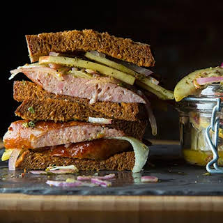 Sausage, Apple and Manchego Sandwich.