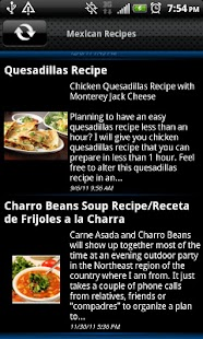 Mexican Recipes - screenshot thumbnail