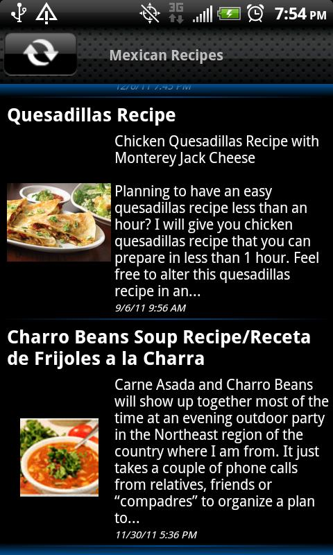 Mexican Recipes - screenshot
