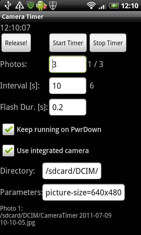Camera Timer USB - screenshot