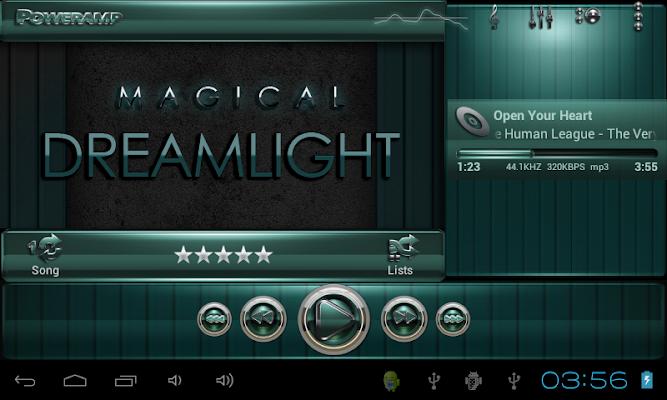 Poweramp skin Dreamlight v2.03