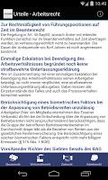 Screenshot of Urteile