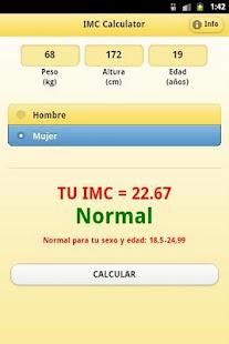 IMC Calculator- screenshot thumbnail