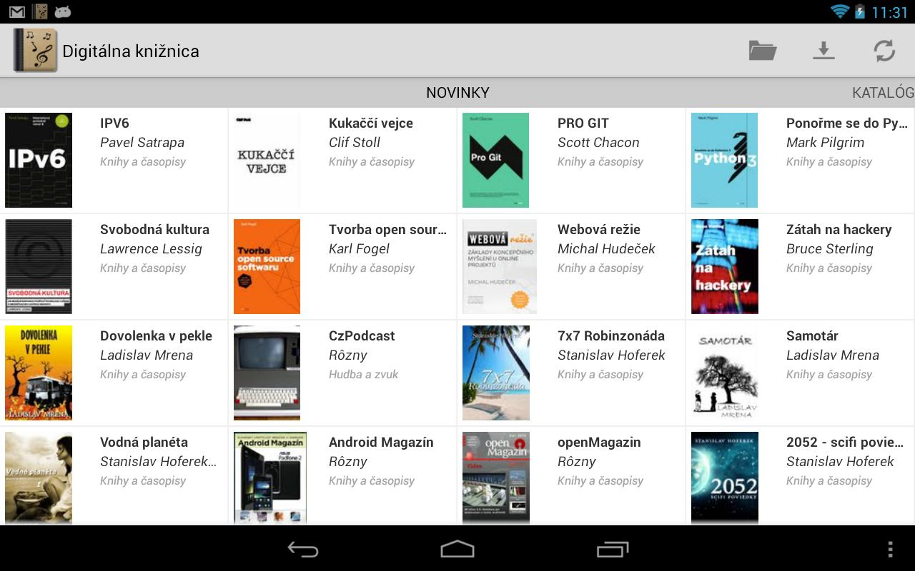 Digitálna knižnica - screenshot