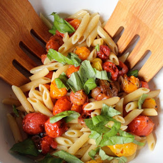 Pasta with Grilled Grape Tomatoes