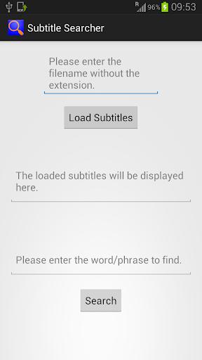 Subtitle Searcher