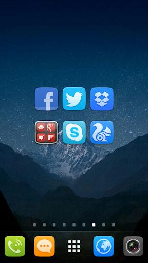 GO Launcher EX UI5.0 theme 2.08 screenshots 4