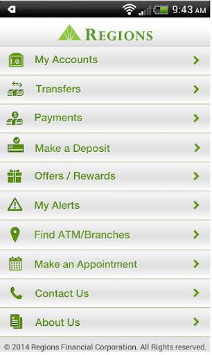 Regions Bank Screenshot