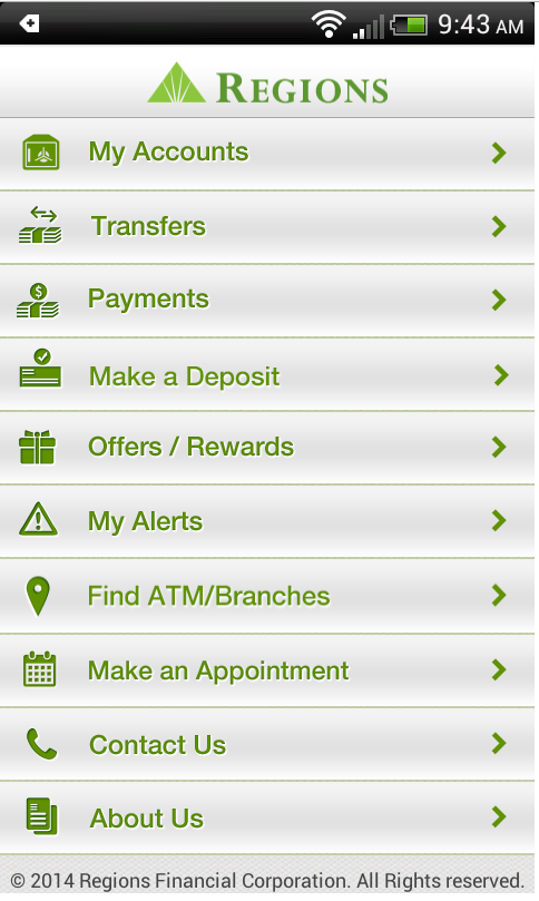 Regions Bank Android 6