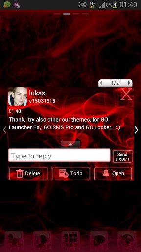 【免費個人化App】GO SMS Pro Theme Red Smoke Buy-APP點子