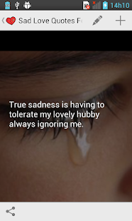 Sad love quotes apps on google play screenshot image voltagebd Image collections