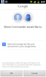 GhostCommander plugin: GDrive 1.03