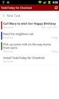 Screenshot of TodoToday for Checkvist