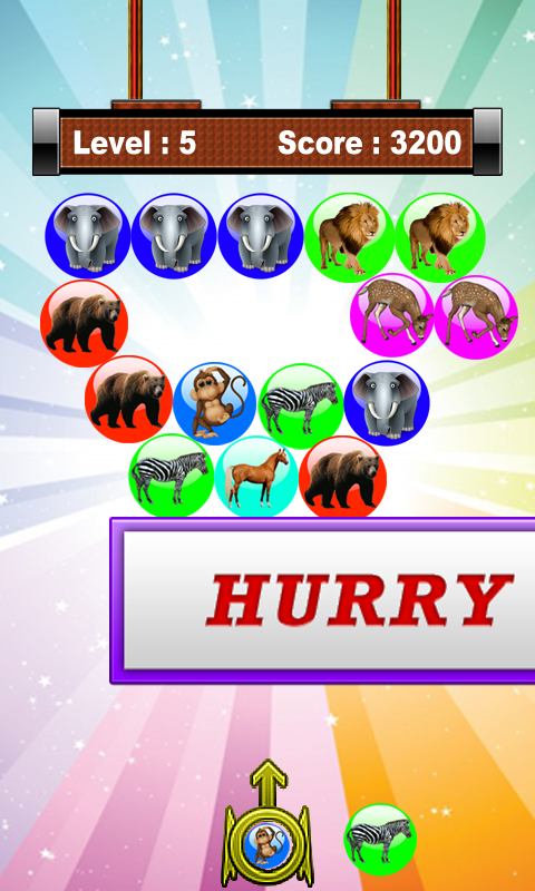 Angry Animal Bubble Shooter - screenshot
