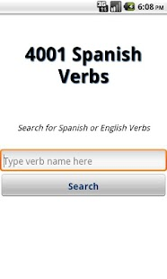 4001 Spanish Verbs- screenshot thumbnail