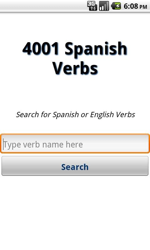 4001 Spanish Verbs- screenshot