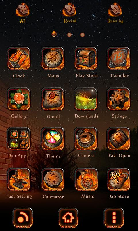 Fire Trials GO Launcher Theme - screenshot