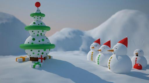 Christmas Snowman LWP