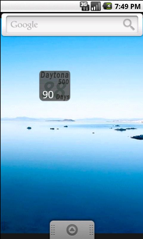Daytona500 Countdown Widget - screenshot