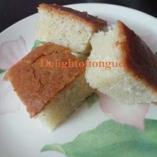 Eggless Vanilla Sponge Cake.