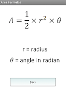 Screenshot of Area Formulas