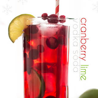 Sparkling Cranberry Lime Cocktail.
