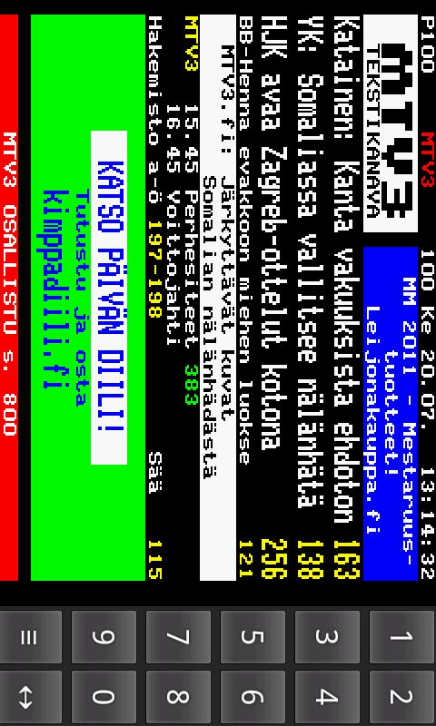 Teksti-TV - screenshot