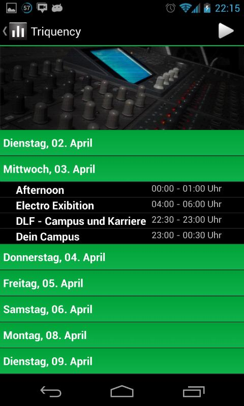 Campus Radio Triquency – Screenshot