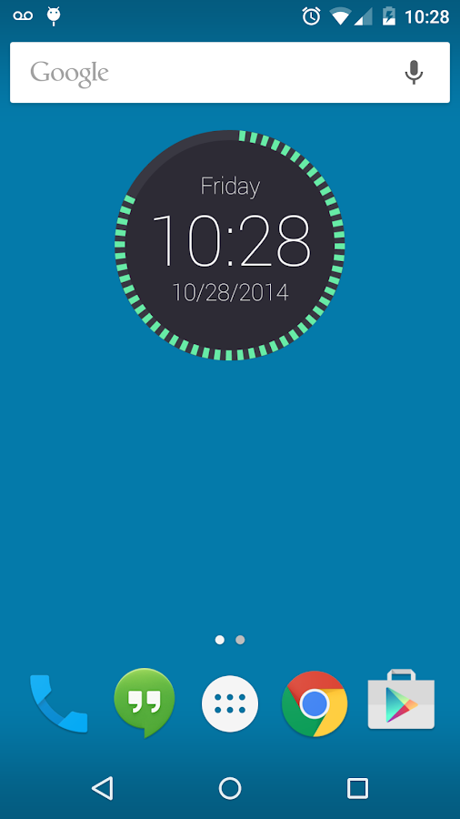 Round Clock Widget- screenshot