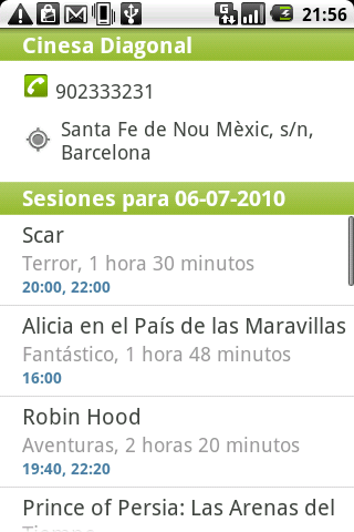 Salir.com Cartelera de Cine - screenshot