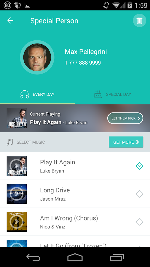 Listen Music Ringback Tones Android Apps On Google Play