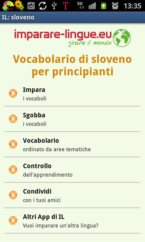 Imparare lo sloveno- screenshot
