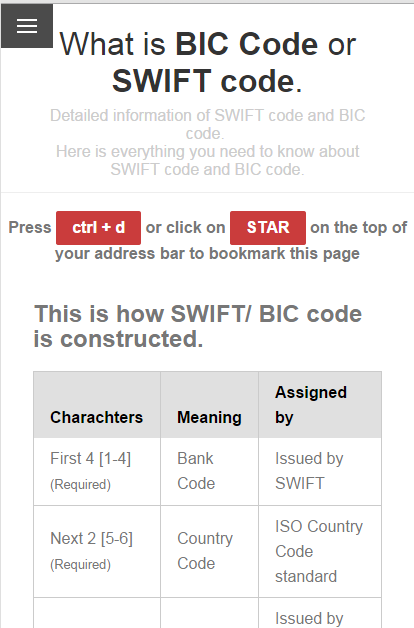 Swift And Bic Codes No Ads Android Apps On Google Play