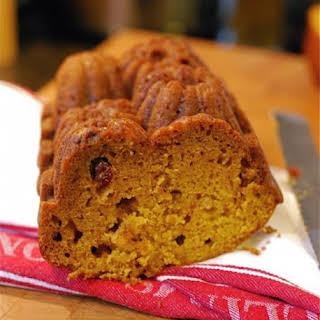Pumpkin Cranberry Quick Bread.