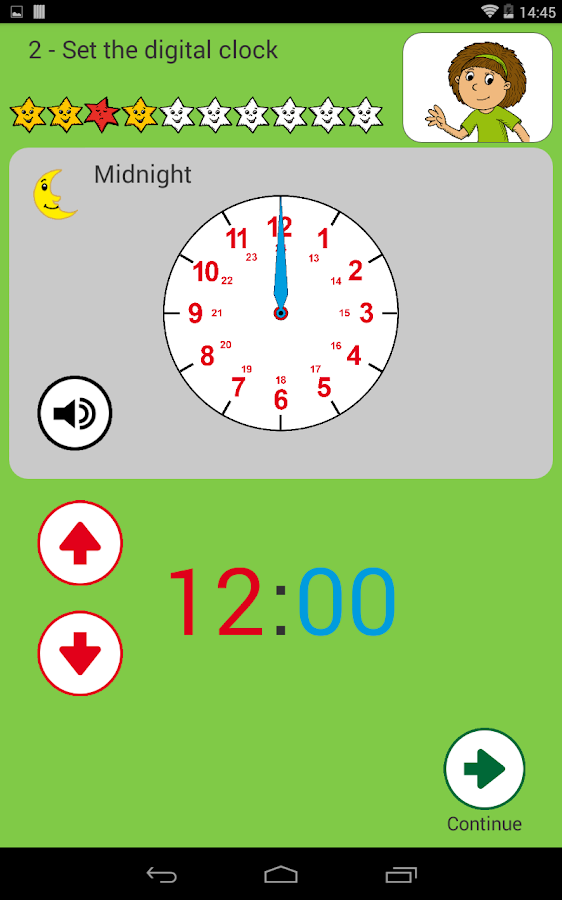 Learning to tell Time- screenshot
