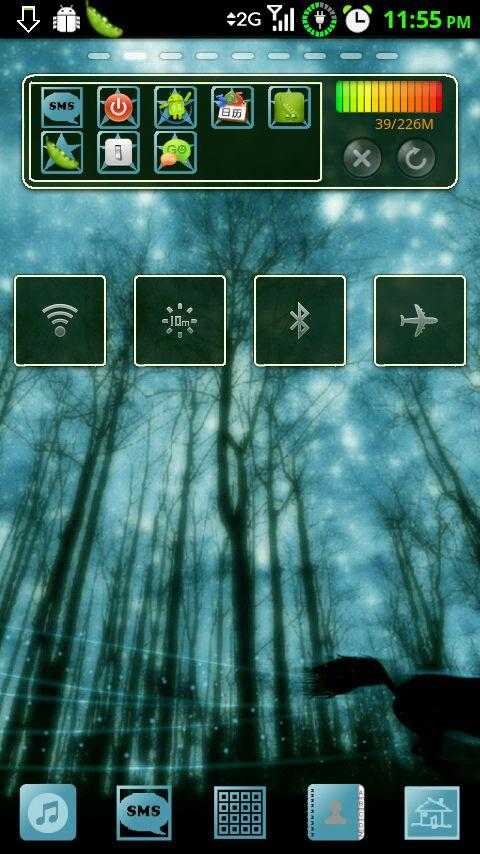 GoWidget Theme - Forest Light - screenshot