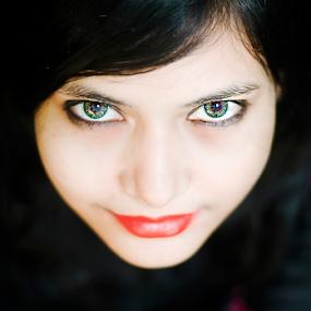 Himi by Arafat Chowdhury - People Portraits of Women ( himi eyes arabian red lips black hair south asian woman )
