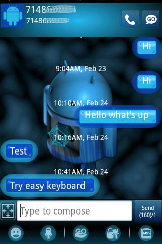 Extreme ICS  HD Go SMS Theme - screenshot