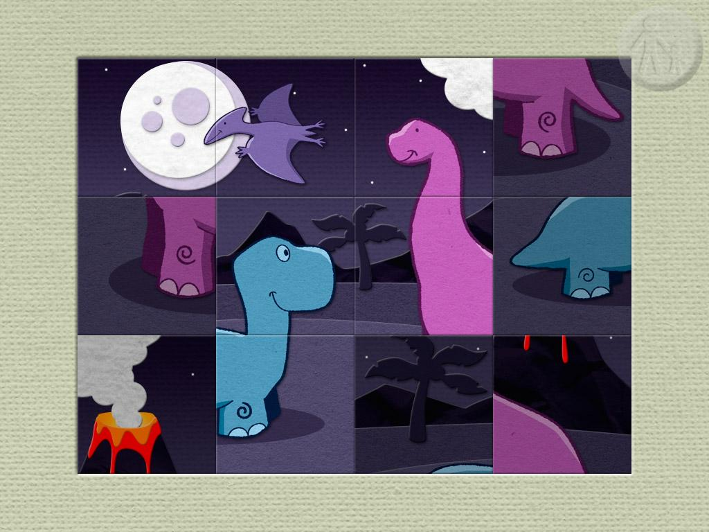 Paper Dinosaurs Puzzle- screenshot