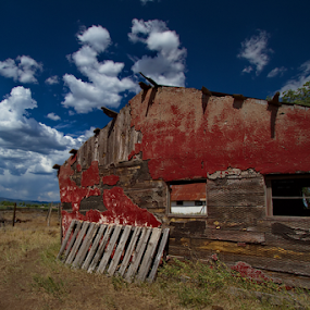 Primary Colors of Durango - Red Barn by Doug Redding - Buildings & Architecture Decaying & Abandoned ( red barn, barn, durango, rustic barn, colorado, landscape,  )