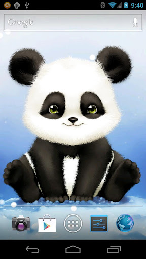 panda bobble live wallpaper for android