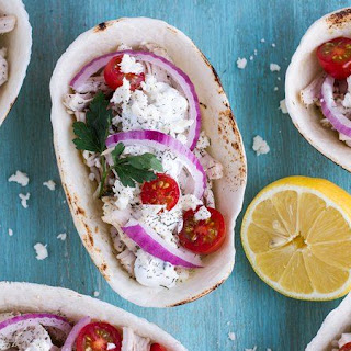 Slow-Cooker Chicken Gyro Bowls