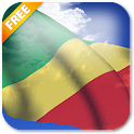 3D Congo Flag Live Wallpaper icon
