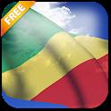 3D Congo Flag icon