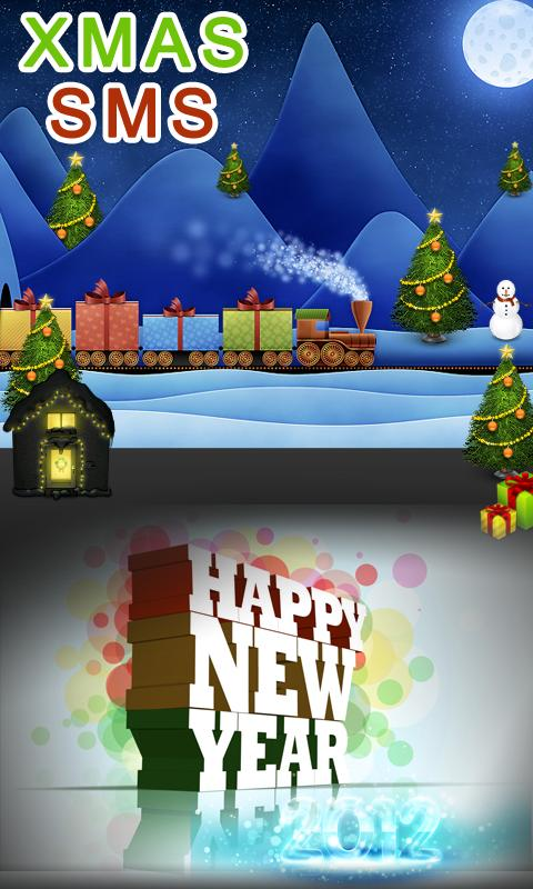 Christmas & New Year SMS Lite- screenshot