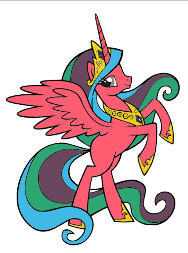 Coloring Book Little Pony