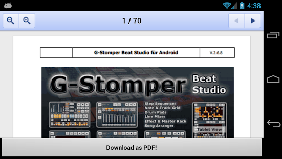 G-Stomper User-Manual DE - screenshot thumbnail