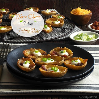 Three-Cheese Mini Potato Skins