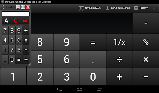 DarkCalc-(popup & normal calc) - screenshot thumbnail