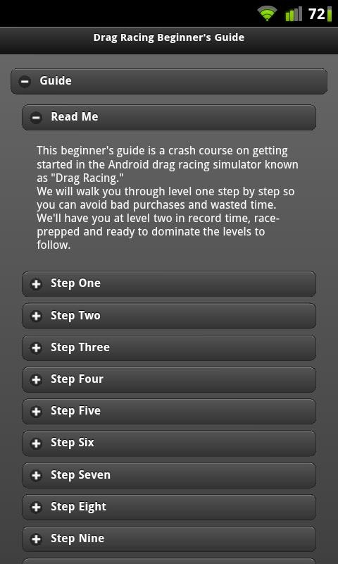 Drag Racing Beginner's Guide - screenshot